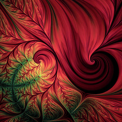 Digital Art - Scarlet Passion Abstract by Georgiana Romanovna