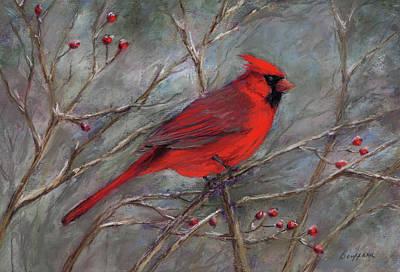 Pastel - Scarlet Sentinel by Vikki Bouffard