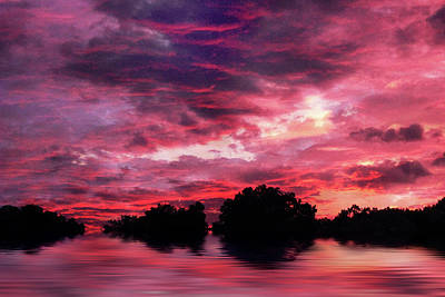 Evening Digital Art - Scarlet Skies by Jessica Jenney