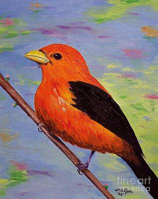 Painting - Scarlet Tanager by Lisa Rose Musselwhite