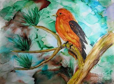 Painting - Scarlet Tanager by Sandra Fox