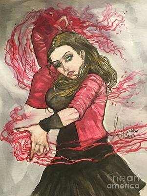 Scarlet Witch  Art Print