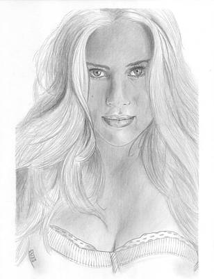 Scarlett Johannson Art Print by David Seter