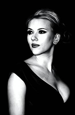 Scarlett Johansson Portrait Art Print by Best Actors