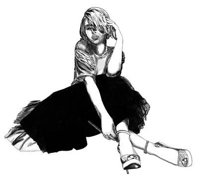 Scarlett Johansson Portrait Art Print