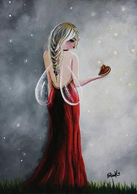 Night Angel Painting - Scarlett - Original Fairy Art by Shawna Erback