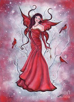 Fantasy Tree Art Painting - Scarlette Fairy by Renee Lavoie