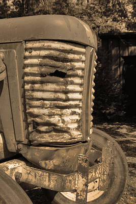 Photograph - Scarred Tractor by Greg Sharpe