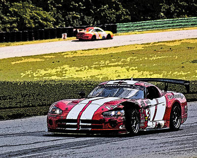 Viper Photograph - Scarred Viper by Alan Raasch