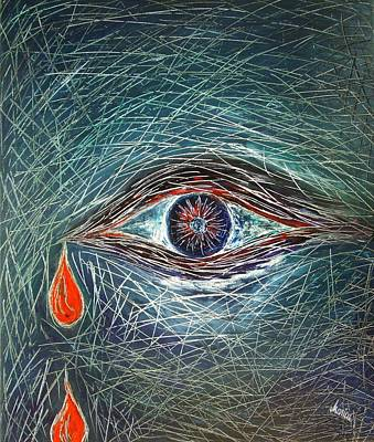 Visionary Painting - Scars In My Soul by Marianna Mills