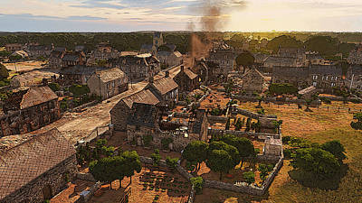 Painting - Scars Of War, Normandy by Andrea Mazzocchetti