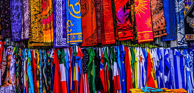 Photograph - Scarves And Flags by Debra Martz