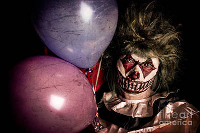 Scary Clown Art Print by Jt PhotoDesign