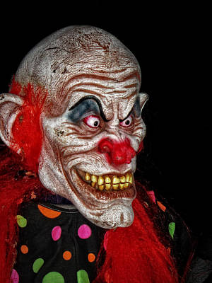 Photograph - Scary Clown by Mike Martin