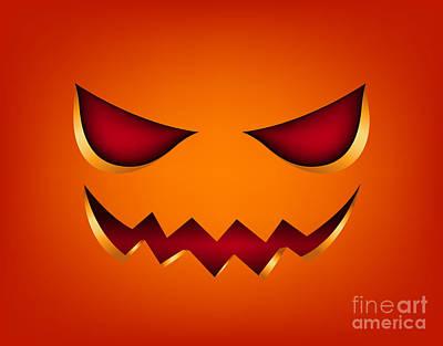 Scary Face Pumpkin Original