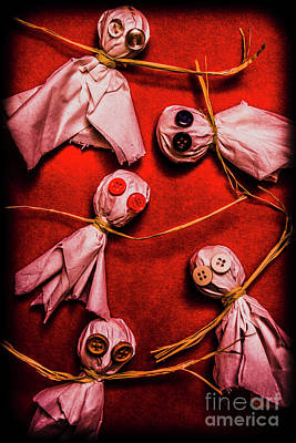 Puppet Photograph - Scary Halloween Lollipop Ghosts by Jorgo Photography - Wall Art Gallery
