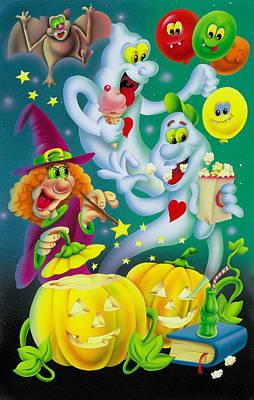 Einladung Painting - Scary Halloween by Patrick Hoenderkamp