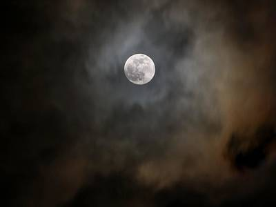 Photograph - Scary Moon by John Loreaux