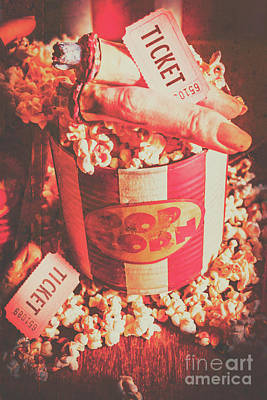 Popcorn Photograph - Scary Vintage B-grade Horror Movies by Jorgo Photography - Wall Art Gallery