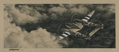 Robin Drawing - Scat II by Wade Meyers