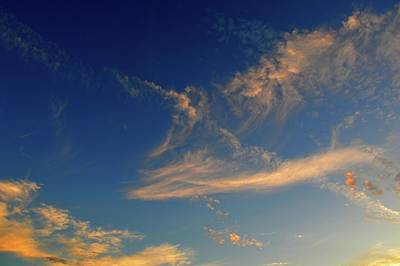 Photograph - Scattered Clouds Two  by Lyle Crump