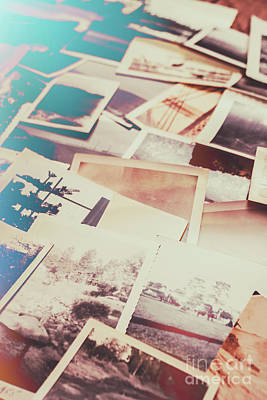 Images Photograph - Scattered Collage Of Old Film Photography by Jorgo Photography - Wall Art Gallery