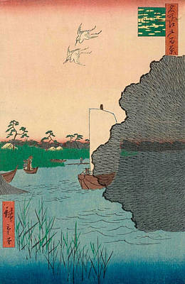 Reproduction Painting - Scattered Pines, Tone River by Utagawa Hiroshige