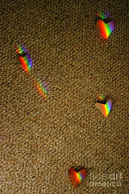 Photograph - Scattered Rainbow Hearts by Marie Neder