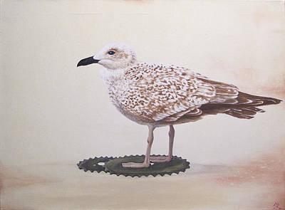 Daniel Wall Painting - Scavengers 02 by Daniel Wall