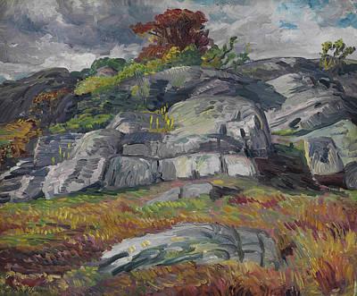 Scavenger's Rocks Art Print by John Sloan