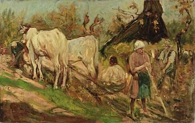 Cesare Painting - Scena Sulaia by Cesare Ciani