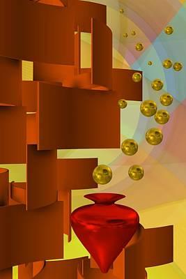 Vase Digital Art - Scene 1.2 by Alberto RuiZ