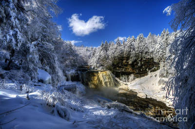 Bath Time Rights Managed Images - Scene at Blackwater Falls Royalty-Free Image by Dan Friend