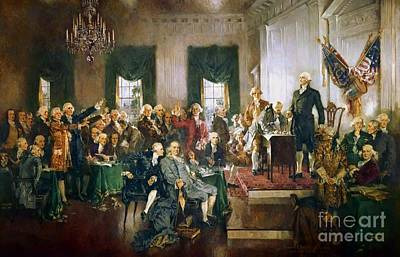 Scene At The Signing Of The Declaration Of Independence Original by Frederick Holiday