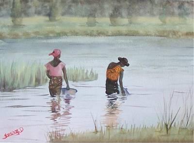 Scene D'afrique  Scene Of Africa Art Print by Dominique Serusier