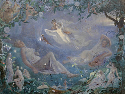 Scene From A Midsummer Night's Dream Art Print