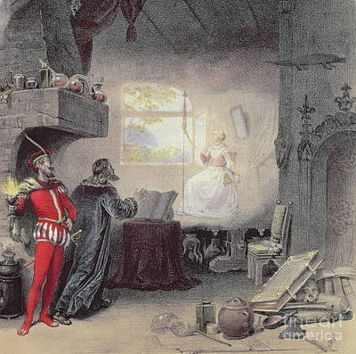 Fireplace Painting - Scene From Faust By Gounod by Unknown
