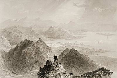 Scene From Sugarloaf Mountain, Bantry Art Print