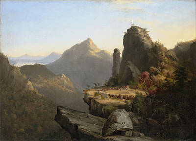 Foot Hills Painting - Scene From The Last Of The Mohicans by MotionAge Designs
