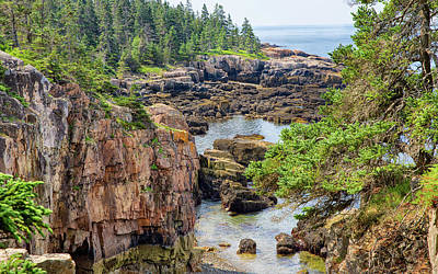 Photograph - Scene From The Schoodic Peninsula by John M Bailey
