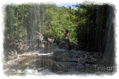 Photograph - Scene From Under The Waterfall by Dan Friend