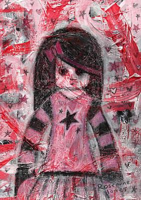 Mixed Media - Scene Girl by Roseanne Jones