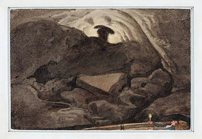 Painting - Scene In A Cave by George Cumberland
