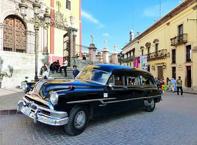 Photograph - Funeral Car In Guanajuato by Rosanne Licciardi
