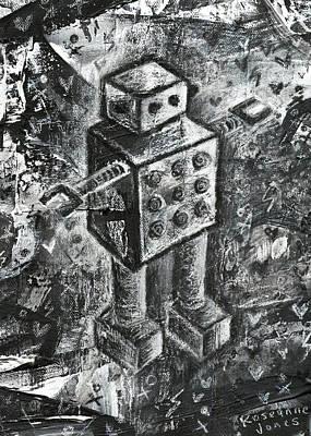 Scene Kid Robot Art Print by Roseanne Jones