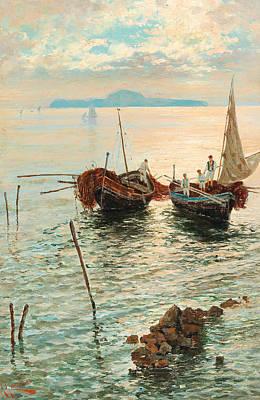 Painting - Scene Near Naples  by Giuseppe Giardiello