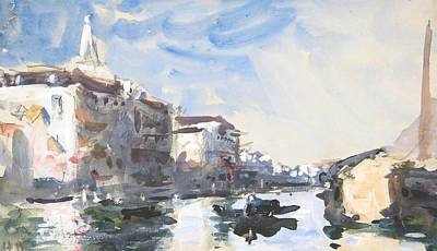 Drawing - Scene On The Grand Canal, Venice by Treasury Classics Art