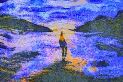 Digital Art - Scenery A La Van Gogh by Mario Carini