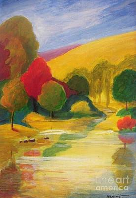 Plain Air Painting - Autumn Scenery by Vesna Antic