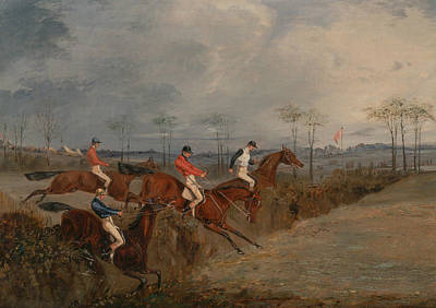 Another Painting - Scenes From A Steeplechase - Another Hedge by Henry Thomas Alken